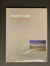 Donald Judd: Architecture ~