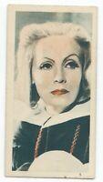 1934 Godfrey Phillips Film Stars Card - #10 Greta Garbo