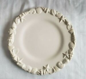 JC Penny Home Collection Water Dinner Plate - 11 inch with Embossed Seashells