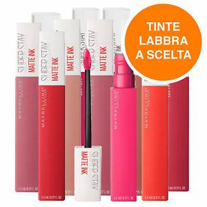Maybelline New York Tinta Labbra SuperStay Ink Effetto Matte Risultato Coprente