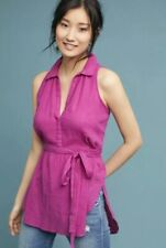 Anthropologie Maeve Batavia Sleeveless Tunic Top Fuchsia Pink Blouse M Medium