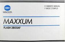 Minolta Maxxum Flash 2800Af Owner'S Instruction Manual, 1984, New Book