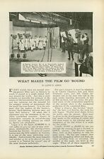 1919 Magazine Article How Movie Film is Used Handled Processed Developed FIlms