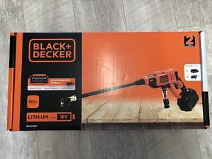 Black & Decker Cordless 18V Li-Ion Pressure Washer + Battery Charger Accessories