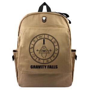Anime Gravity Falls Bill Backpack Schoolbag Canvas Travel Laptop Knapsack Gift A