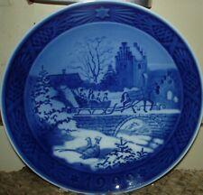 "Royal Copenhagen 1999 Christmas Plate - The Sleigh Ride - 7 1/8"""