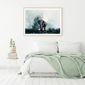 Elephant Watercolor Painting Print Premium Poster High Quality choose sizes