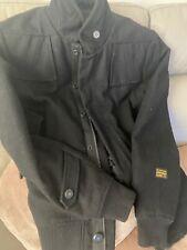 Gstar abrigo Para Hombre Negro Grande