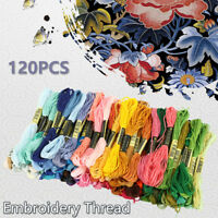 120xColour CROSS STITCH EMBROIDERY THREADS  + KIT Craft Sewing Cotton DIY Skeins