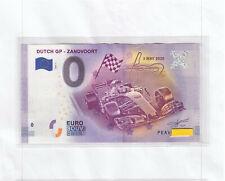 0 Euro Schein PEAV 2020-1  DUTCH GP - Zandvoort - 3 May 2020 € Error Niederlande