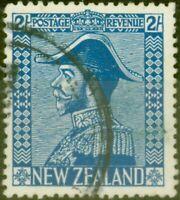 New Zealand 1926 2s Dp Blue SG466 Jones Fine Used