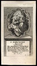 santino grabado 1700 S.NARCISO V. JERUSALÉN