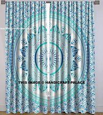 Ombre Mandala Indischen Baumwoll-Vorhang-Set Fenster hängende Raumteiler Hippie