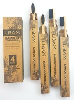 Bamboo Toothbrush   Pack of 4  Medium Bristles    Beautifully Crafted And Unique