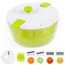 Salatschleuder mit Multireibe Salattrockner Sieb Schüssel Gemüsehobel Seiher