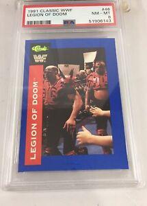 Legion Of Doom Road Warriors 1991 Classic Wwf #46 Psa 8 Pop 1 Wwe