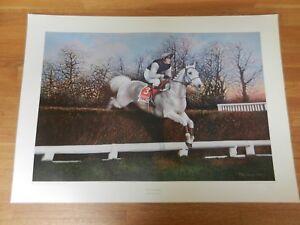 Desert Orchid by Max Brandrett horse print racehorse picture