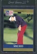 1990 Pro Set Golf Mike Reid #26 Signed Autograph