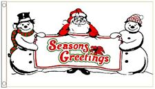 Christmas Seasons Greetings Snowman Banner 5'x3' Flag