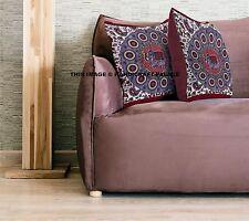 Indian Mandala Elephant Cushion Cover Square Pillow Case Cotton Bohemian Throw