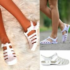 Womens Ladies Flat Summer Jelly Sandals Comfort Flip Flops Holiday Beach Size 5