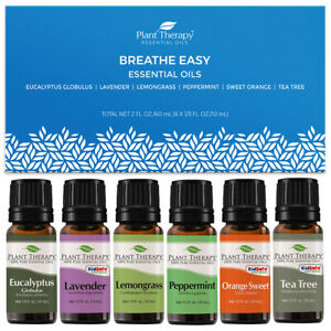 Plant Therapy Essential Oils Breathe Easy Set 100% Pure, Undiluted