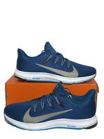 New Nike Quest 2 CI3787-401 Mens Size 12 Running Shoes Blue Force Pewter