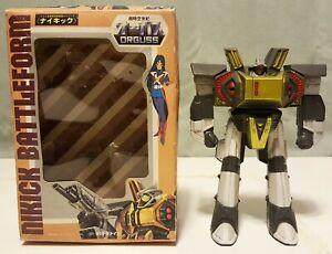 Vintage 1983 Takatoku Orguss Nikick Battleform 1/62 Sofubi (Complete In Box)