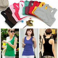 Women Fashion Casual Slim Short Sexy Sleeveless Tank Tops Vest Tube Crop Blouses