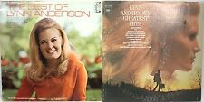 (Lot of 2) LYNN ANDERSON 33RPM Vinyl Records Greatest Hits KC 31641 & CHS-1009