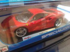 Ferrari 488 GTB. Red. 1:18 Maisto Die-Cast.