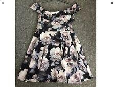 BNWT New Look Bardot floral  Skater Dress Size 18 stretchy