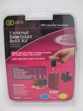 NCR Universal Tri Color Printer Ink Inkjet Refill Kit NEW Set for HP Canon Epson