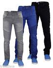 New Mens Designer True Face Biker Skinny Slim Fit Stretch Jeans Cotton Denim