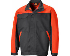 Dickies Mens Everyday Polycotton Adjustable Two Tone Workwear Jacket Ed247jk-gor-xl XL