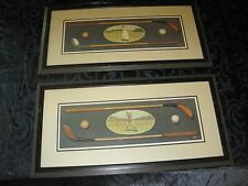 B. Horton 2 Signed Matted and Framed  Lady & Gentleman Golfer Art Prints 16x29""