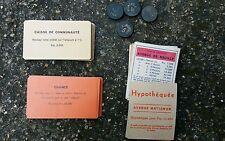 Cartes pions anciens jeu de Monopoly