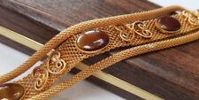Vintage Beverly Ann 14kt Gold Plated Designer Fashion Bracelet New Original Box