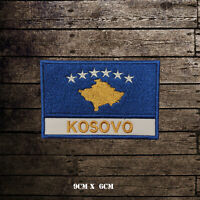 KOSOVO Flag With Name Embroidered Iron On Sew On Patch Badge For Clothes Etc