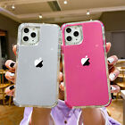 For iPhone 13 Pro Max 12 11 8 XS XR SE Hybrid Shockproof Bumper Clear Case Cover