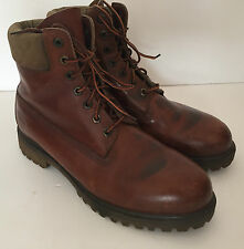 MEN'S TIMBERLAND DISTRESSED  LEATHER BOOTS SIZE UK. 9 W