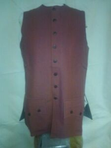 18th Century/Rev War Men's Reenactor Waistcoat, size  2X Large