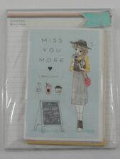 Miss You More Letter Set Pack Stationery Writing Paper Envelope penpal lady girl