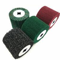 4 Types Non-woven Abrasive Flap Wheel Wire Drawing Polishing Burnishing Wheel