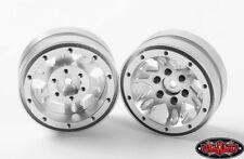 RC4WD Z-W0175 1.9 Universal Beadlock Wheel D1 Silver (2) Aluminum Wheels Crawler