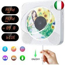 Lettore CD/DVD portatile, lettore CD/DVD musicale Bluetooth con montaggio a