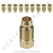 SIT 0.958.031 PACK OF 10 x M10 LOCKING SCREW BRASS NUT & OLIVE 6mm GAS TUBING PI