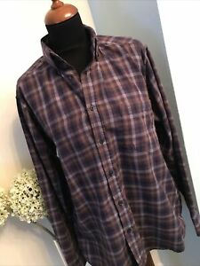 Designer JAMES PRINGLE Long Sleeve Shirt Size M Purple Mix Excellent Condition