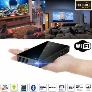 DLP Mini Projector Full HD 4K 1080P WIFI HDMI Home Cinema Theater Android USB UK
