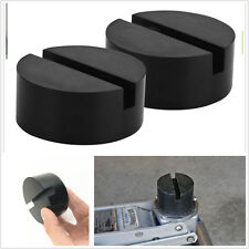 2pc Universal Slotted Frame Rail Floor Jack Guard Adapter Lift Rubber Pad NEW
